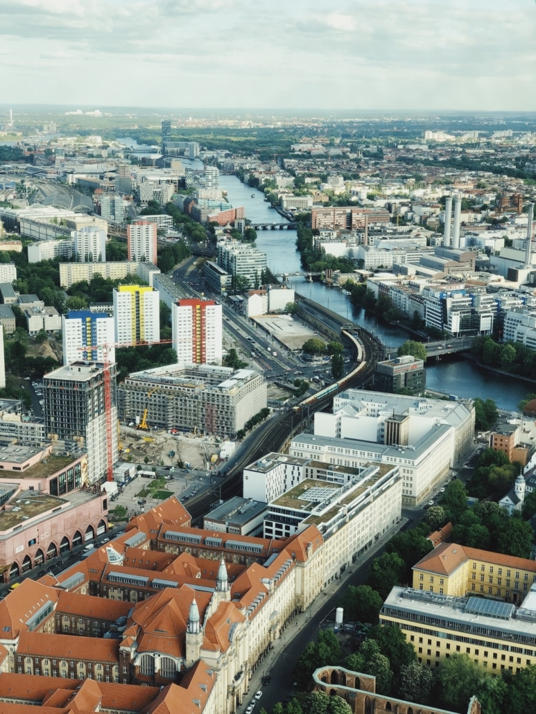 Berlin air view city centre